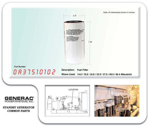 0a37510102 generac part number genset services generac. Black Bedroom Furniture Sets. Home Design Ideas
